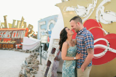 Neon Boneyard Engagement Las Vegas by Meg Ruth Photo, Hair and Makeup by Amelica C. & Co